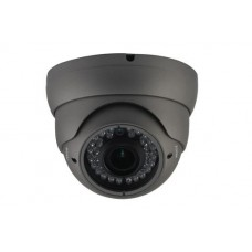 Vandal Resistant IR Dome 2MP Camera Dark Grey Case 2.8-12mm